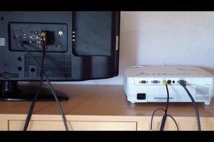 TV-Bild auf Beamer übertragen