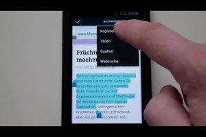 Zwischenablage bei Samsung S3 - Hinweise