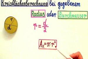 Kreisflächenberechnung – Formel und Hinweise zur Anwendung