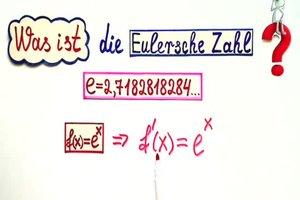 Eulersche Zahl - Herleitung anschaulich erklärt