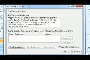 Outlook - so wird eine Urlaubsbenachrichtigung eingestellt