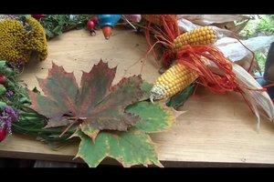 Basteln aus Kastanien und Blättern - so gelingt ein Herbstkranz