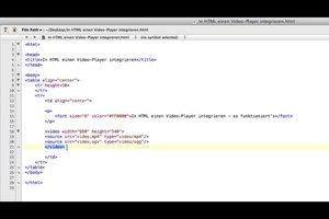 In HTML einen Video-Player integrieren - so funktioniert's