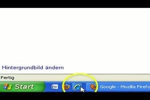 Symbol auf die Taskleiste ziehen - so machen Sie es in Windows XP
