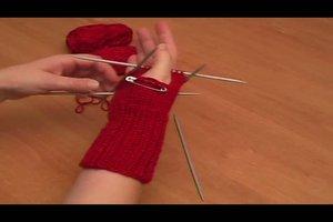 Fingerlose Handschuhe stricken - Anleitung
