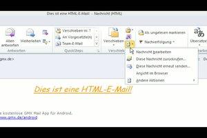 Outlook 2010 - Markierung drucken in HTML-E-Mails