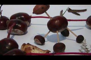 Basteln mit Kastanien für Kleinkinder - Anleitung für zwei einfache Figuren
