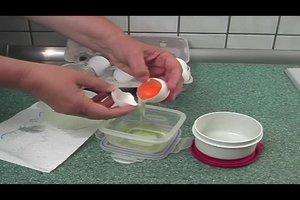Rohes Ei einfrieren - so machen Sie es richtig