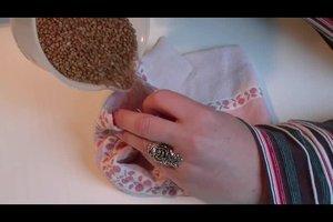 Wärmekissen nähen aus waschbarem Stoff - eine Anleitung