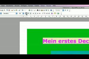 Deckblätter selber gestalten - so geht´s in OpenOffice