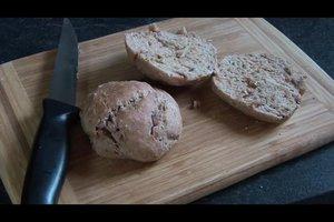 Dinkelbrötchen ohne Hefe backen - ein Rezept