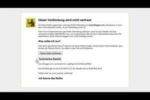 SSL-Verbindungsfehler beheben - so erneuern Sie das Zertifikat
