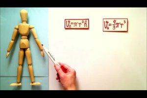 Wieviel Volumen hat ein Mensch - so berechnen Sie den menschlichen Körper