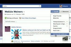 Wie lösche ich Freunde bei Facebook? - So machen Sie es richtig