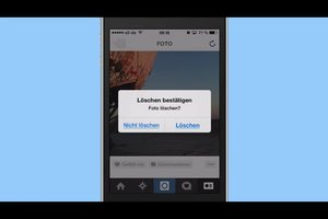 Instagram - Bilder löschen