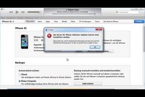 """""""Der Server für iPhone-Software-Updates konnte nicht kontaktiert werden"""" - was tun?"""