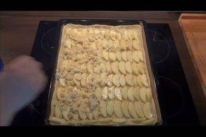 Apfel-Blechkuchen mit Streusel - ein einfaches Rezept