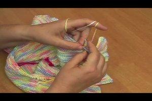 Strickanleitung - einen Pullover für Babys stricken