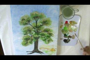 Bäume malen - mit Acryl-Farben gelingen Sie so