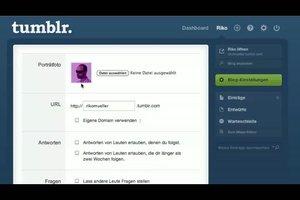Bei Tumblr Profilbild ändern - so geht´s