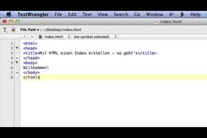 Mit HTML einen Index erstellen - so geht's