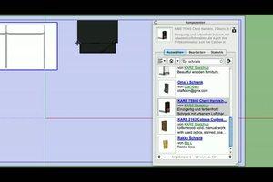 2D-Plan - Möbel mit Software arrangieren