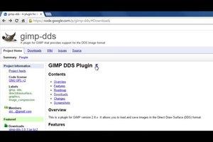 Dateien des Typs .DDS öffnen in GIMP