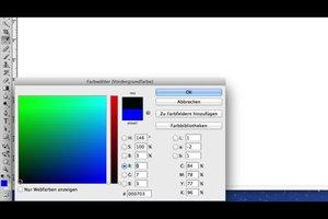 In Photoshop einen Hintergrund schwarz färben - so gelingt's