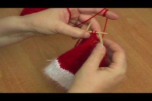 Nikolausmütze stricken - einfache Anleitung auch für Anfänger