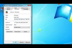 Windows 7 - Programm mit Parametern starten