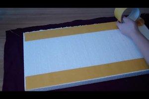 Pinnwand selbstgebastelt - so geht's mit Styropor und Stoff