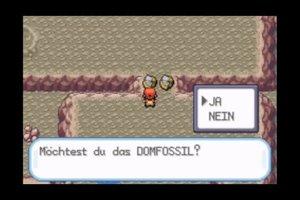 Pokémon Feuerrot: Domfossil und Helixfossil - Hinweise