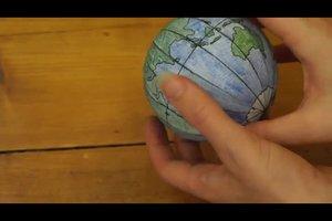 Globus selber basteln - so geht's
