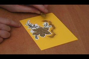3D-Karten basteln - Anleitung für eine Glückwunschkarte