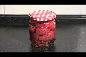 Erdbeeren einwecken - Anleitung