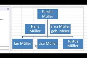 Stammbaum in Excel erstellen - so geht´s