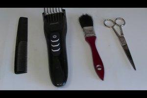 Die Haare schneiden mit einer Maschine - Anleitung