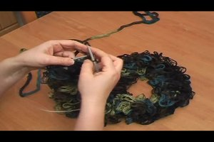 Rüschenschal - Anleitung zum Selbermachen
