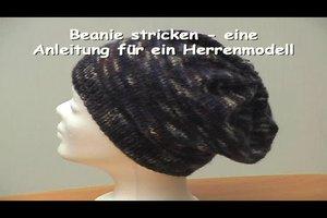 Beanie stricken - eine Anleitung für ein Herrenmodell