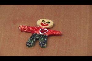 Voodoo-Puppe selber basteln als Schlüsselanhänger