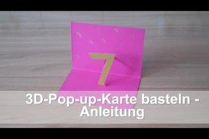 3D-Pop-up-Karten basteln - Anleitung