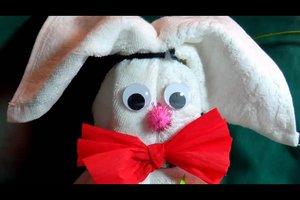 Handtuch-Hase selber machen