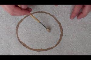 Kreise an die Wand malen - so geht's