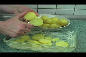 Kartoffelgratin mit gekochten Kartoffeln - Rezept