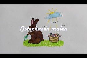 Osterbild malen - so gelingt ein Hase