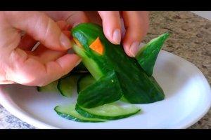 Schnitzen von Gemüse - ein Trend der modernen Küche