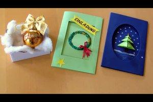 Einladung zur Weihnachtsfeier kreativ gestalten