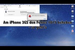 Am iPhone 3GS den Fehler 1015 beheben - so geht's
