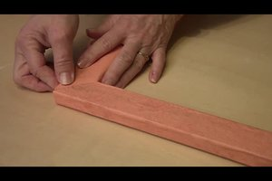 Tapetenreste - Basteln mit übrig gebliebenen Materialien