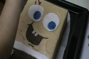Spongebob-Kuchen backen - ein schwammiges Rezept
